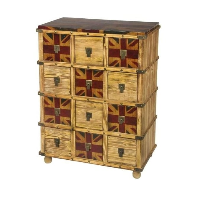Union Jack Shabby Chic Chest of Drawers