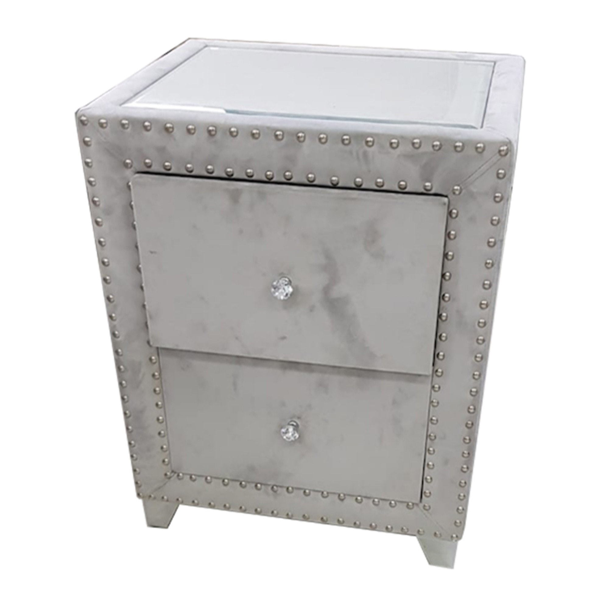 Uptown Grey Bedside Table