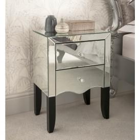 Valentina Mirrored Bedside Table