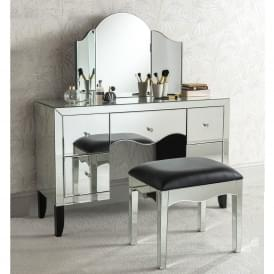 Valentina Mirrored Dressing Table Set