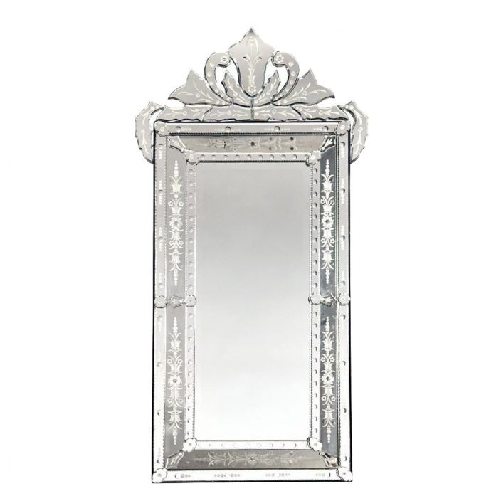 Venetian Mirror With Crown And Etching French Mirrors