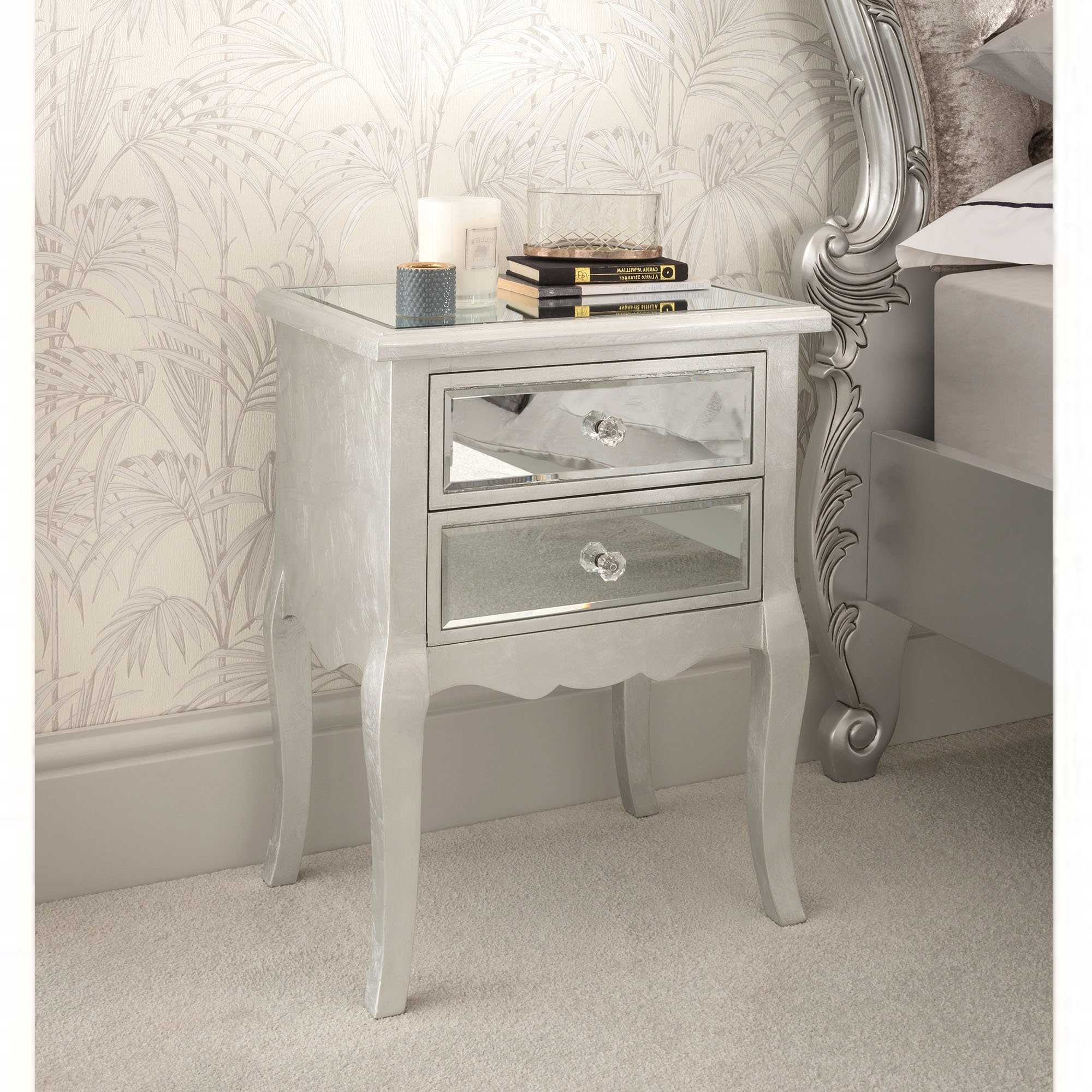 brand new bf06d 64581 Venetian Mirrored Bedside Table