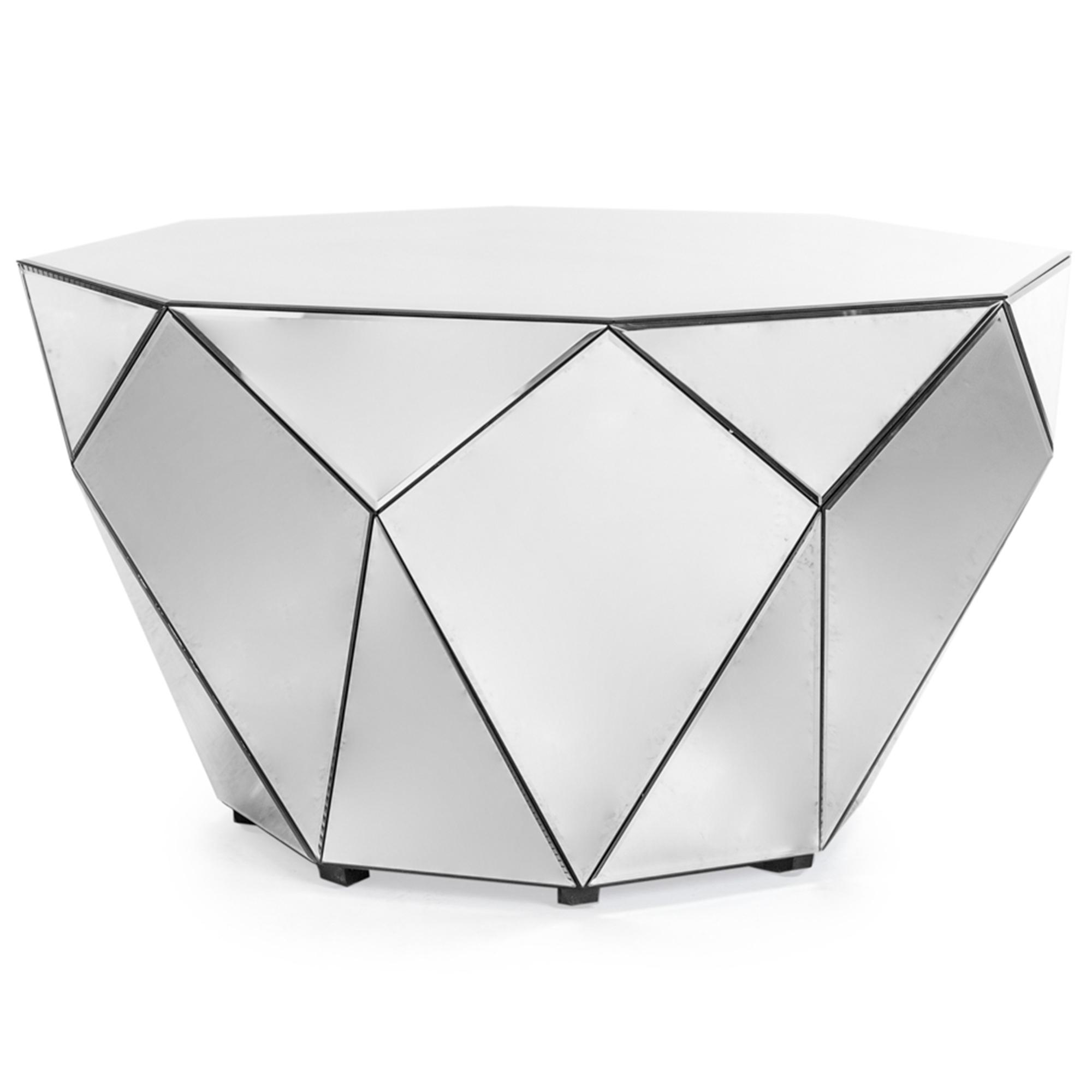 Awesome Venetian Mirrored Diamond Coffee Table Dailytribune Chair Design For Home Dailytribuneorg