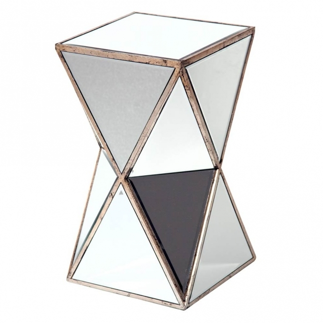 Venetian Mirrored Pedestal Plant Stand