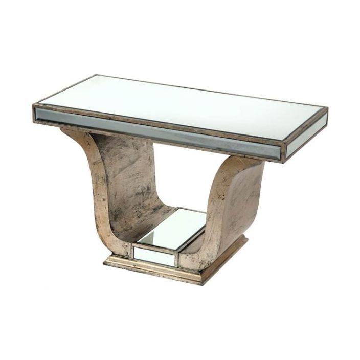 Venetian Mirrored Table Glass Furniture Homesdirect365
