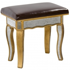 Venezia Mirrored Stool