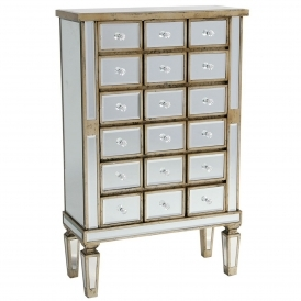 Venezia Mirrored Tallboy Chest