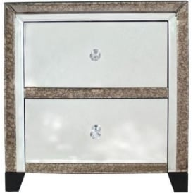 Verona Mirrored Bedside Cabinet