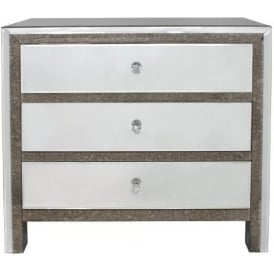 Verona Mirrored Chest Of Drawers
