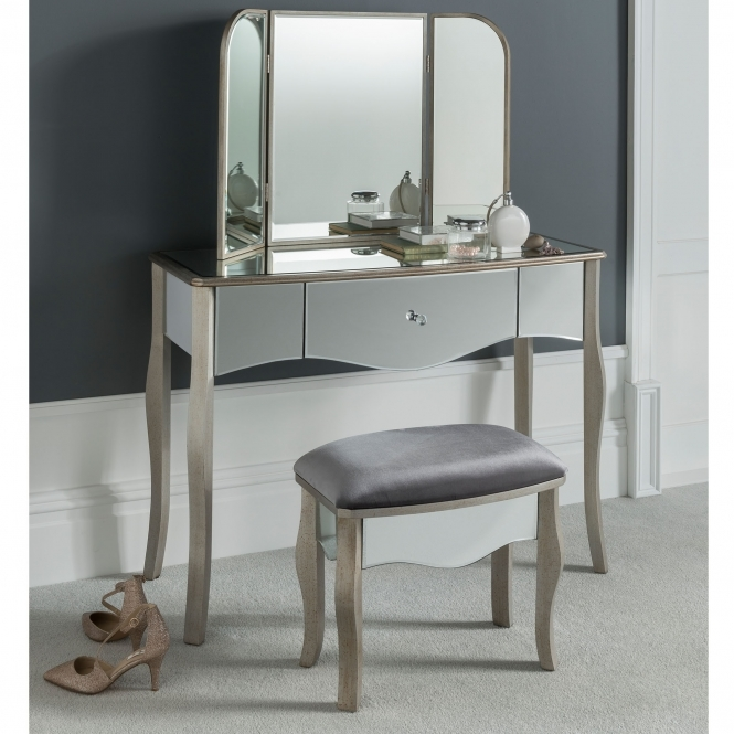 Versailles Mirrored Dressing Table Set
