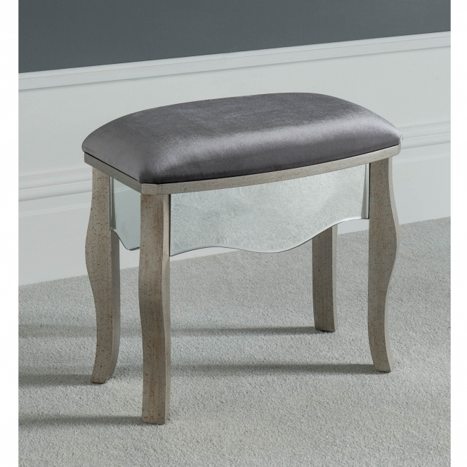 Versailles Mirrored Dressing Table Stool