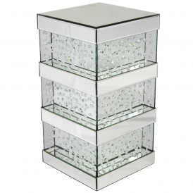Vicenza Mirrored Pillar Stand