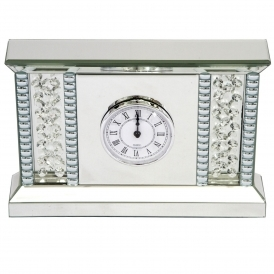 Vicenza Mirrored Table Clock