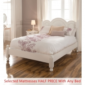 Victorian Antique French Style Bed (Size: Double) + Mattress - Bundle Deal
