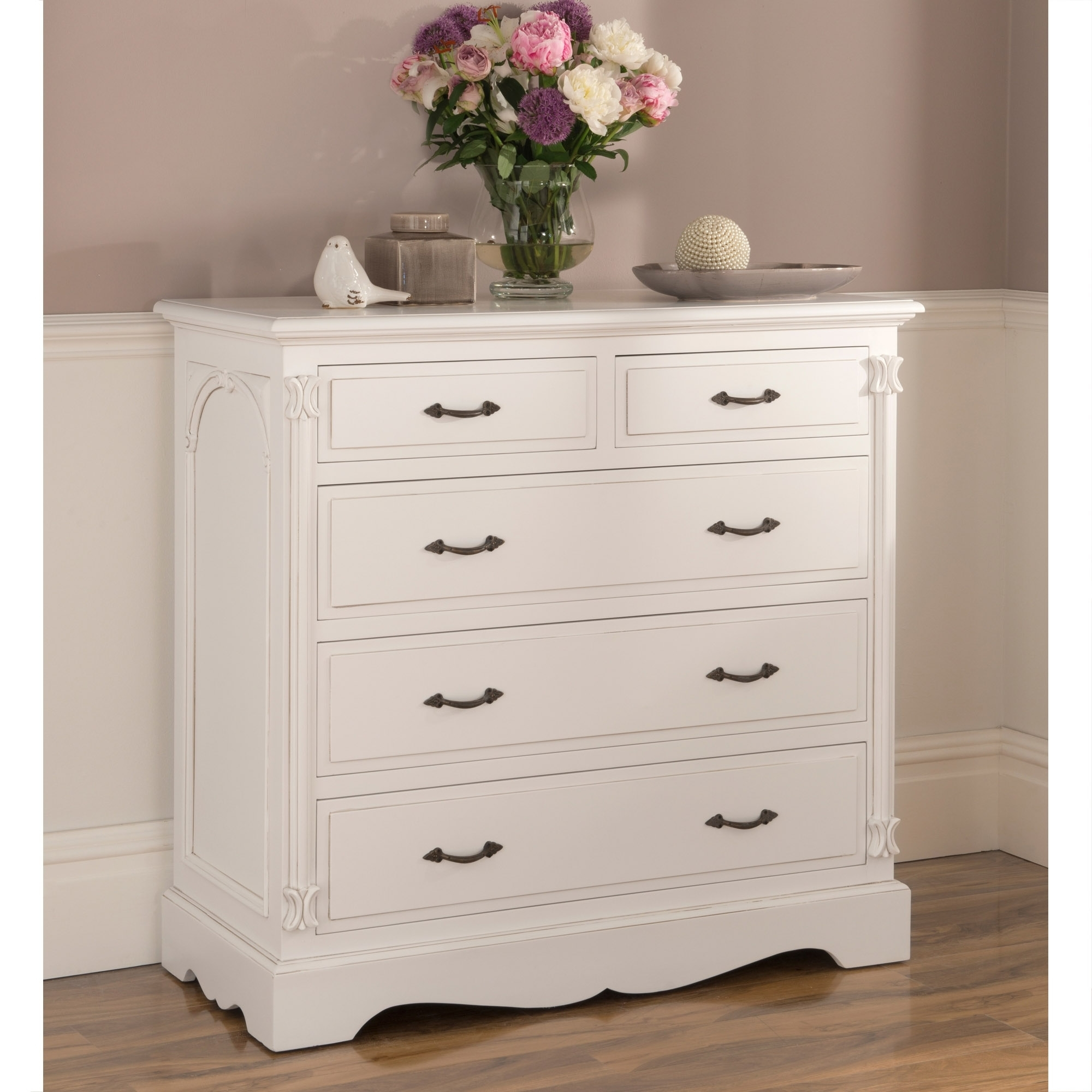 Victorian Antique French Style Chest Of Drawers