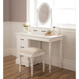 Victorian Antique French Style Dressing Table Set