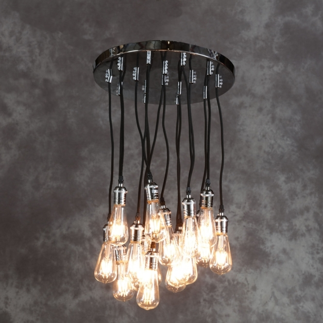 Vintage Chrome Multi Pendant Light