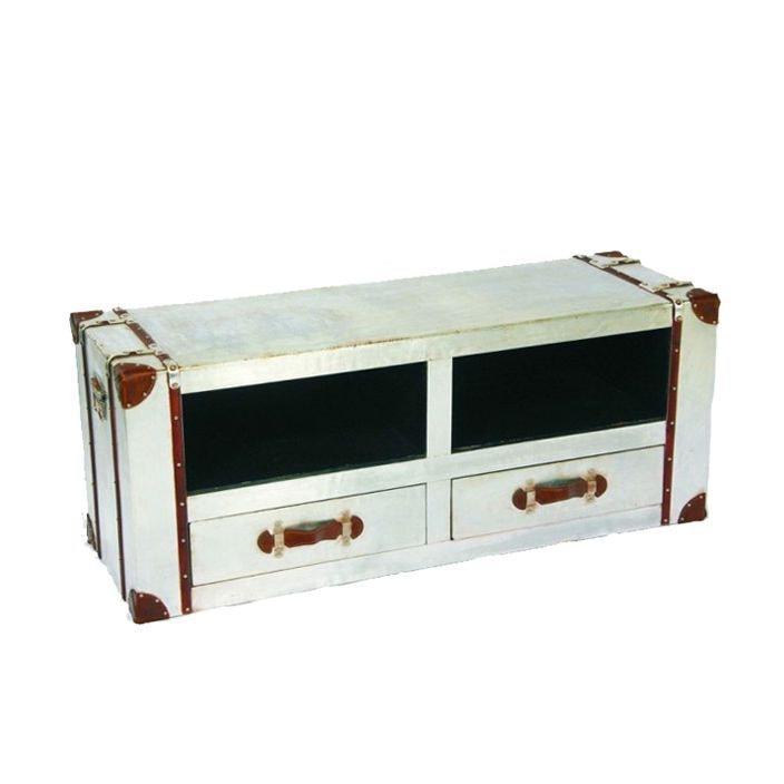 timeless design 731ee cf5c7 Vintage Industrial Aluminium TV Cabinet