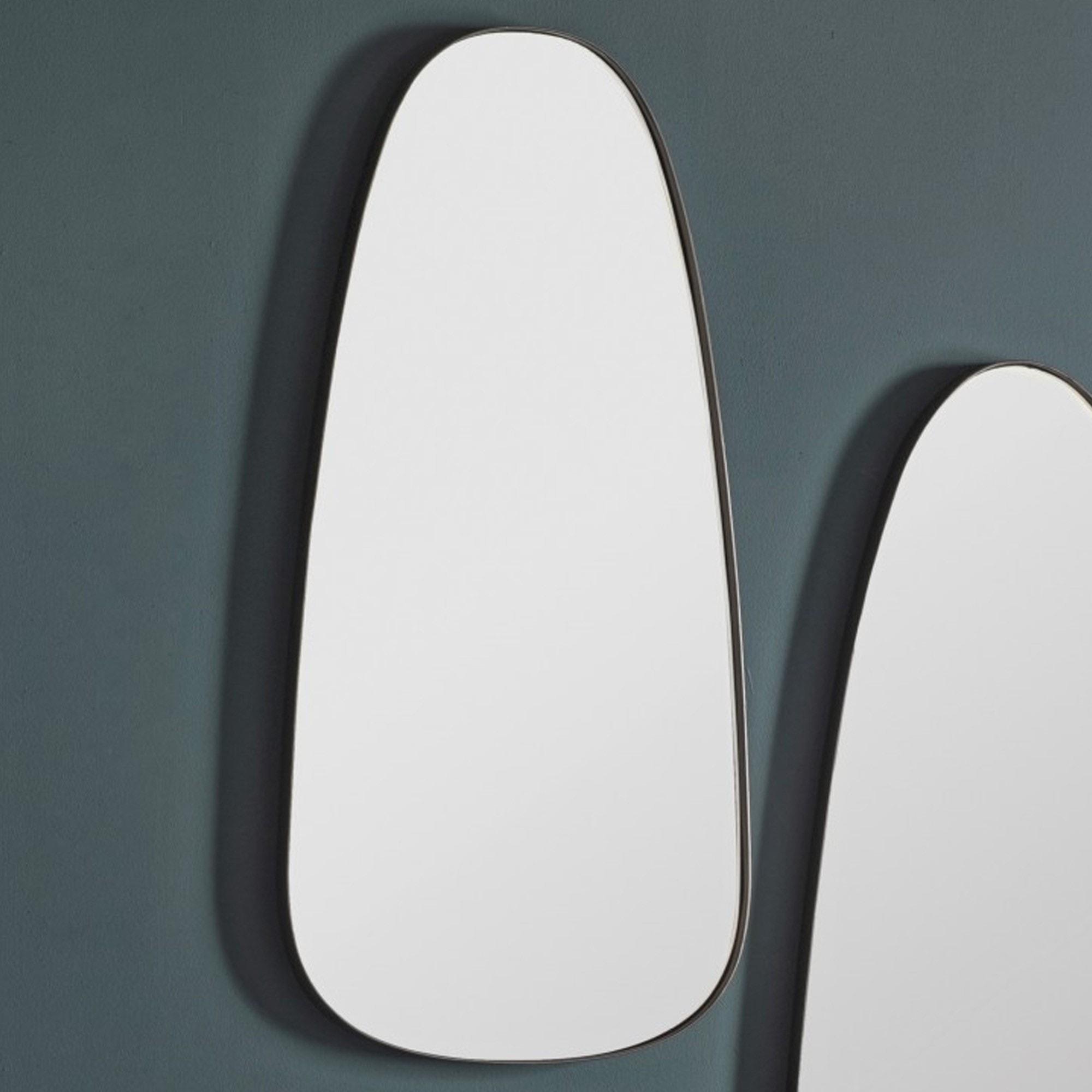Vintola Mirror Pewter Curved Mirror Retro Mirror Wall Mirror