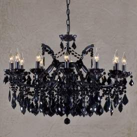 Vivianne Black Antique French Style Chandelier