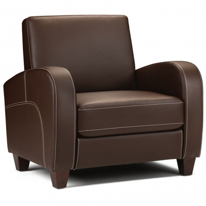 Vivo Chair in Chestnut Faux Leather