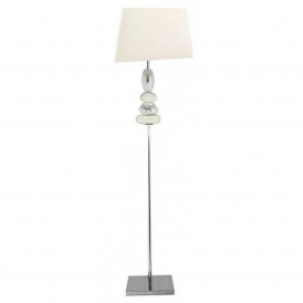 White and Chrome Pebble Floor Lamp