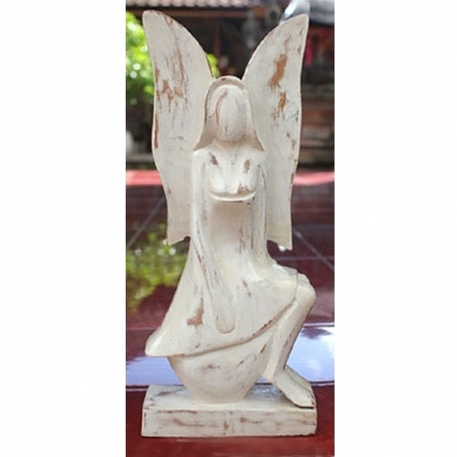 White Angel Sitting Ornament