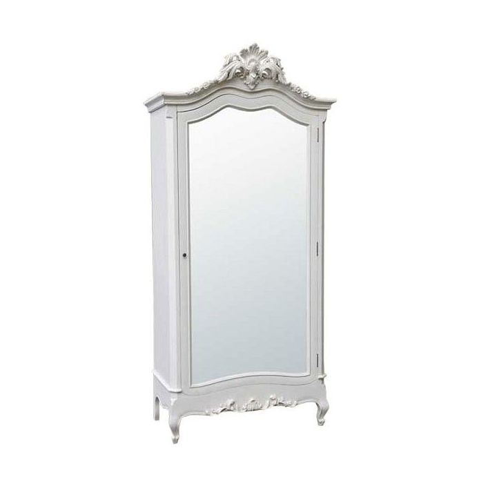 White Antique French Armoire compliments our shabby chic ...