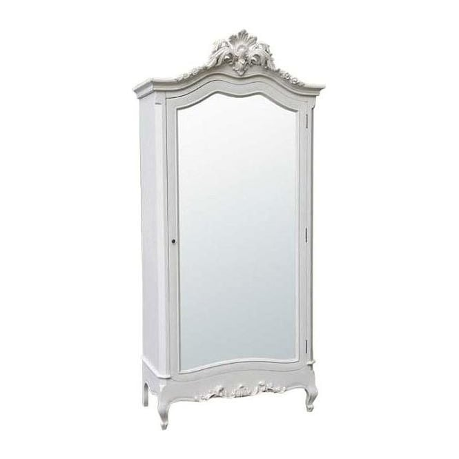 White Antique French Style Armoire