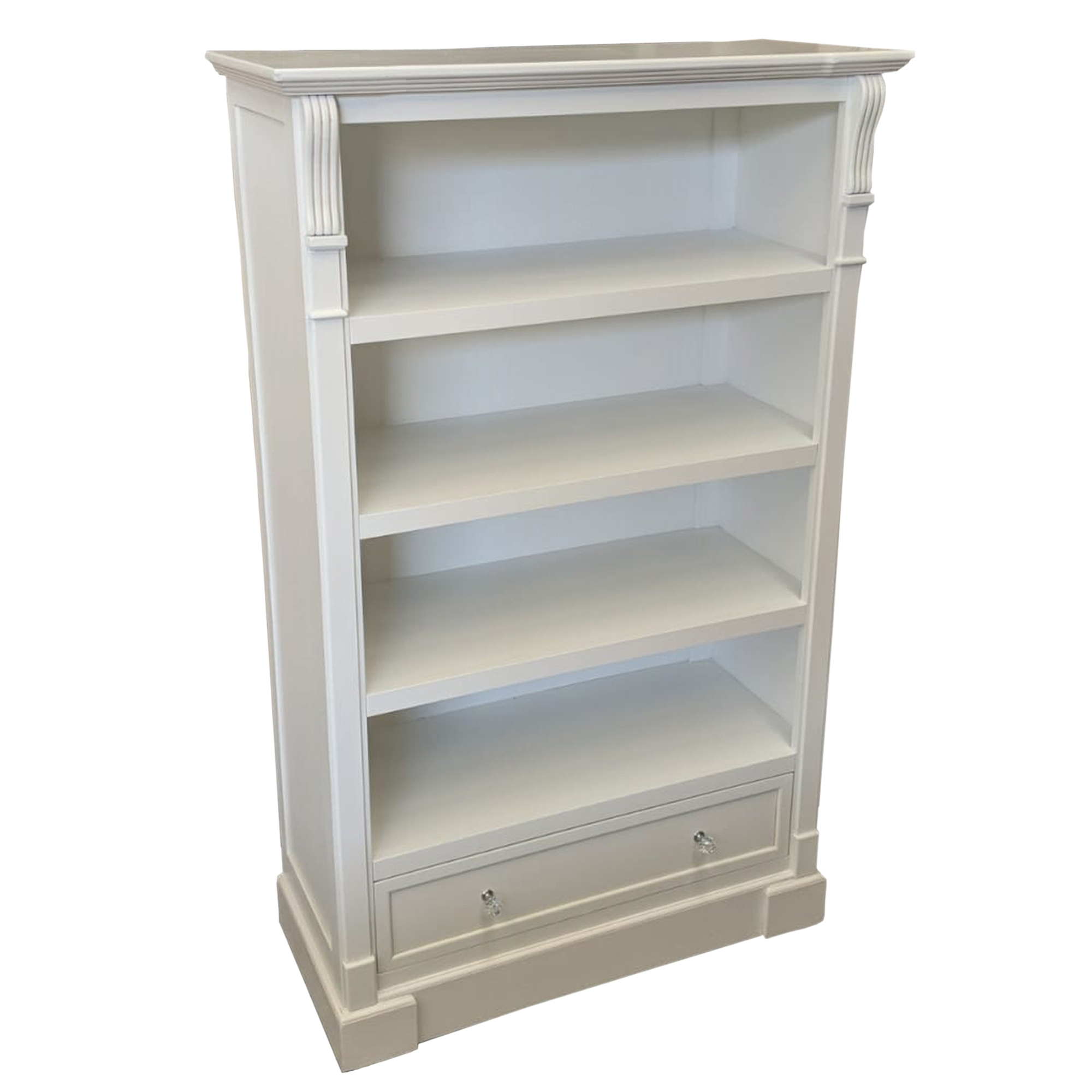 White Antique French Style Bookcase