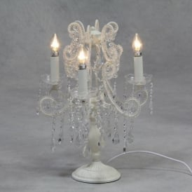 White Antique French Style Candelabra