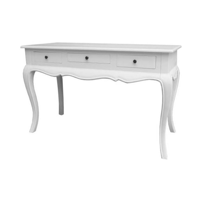 White Antique French Style Console Table