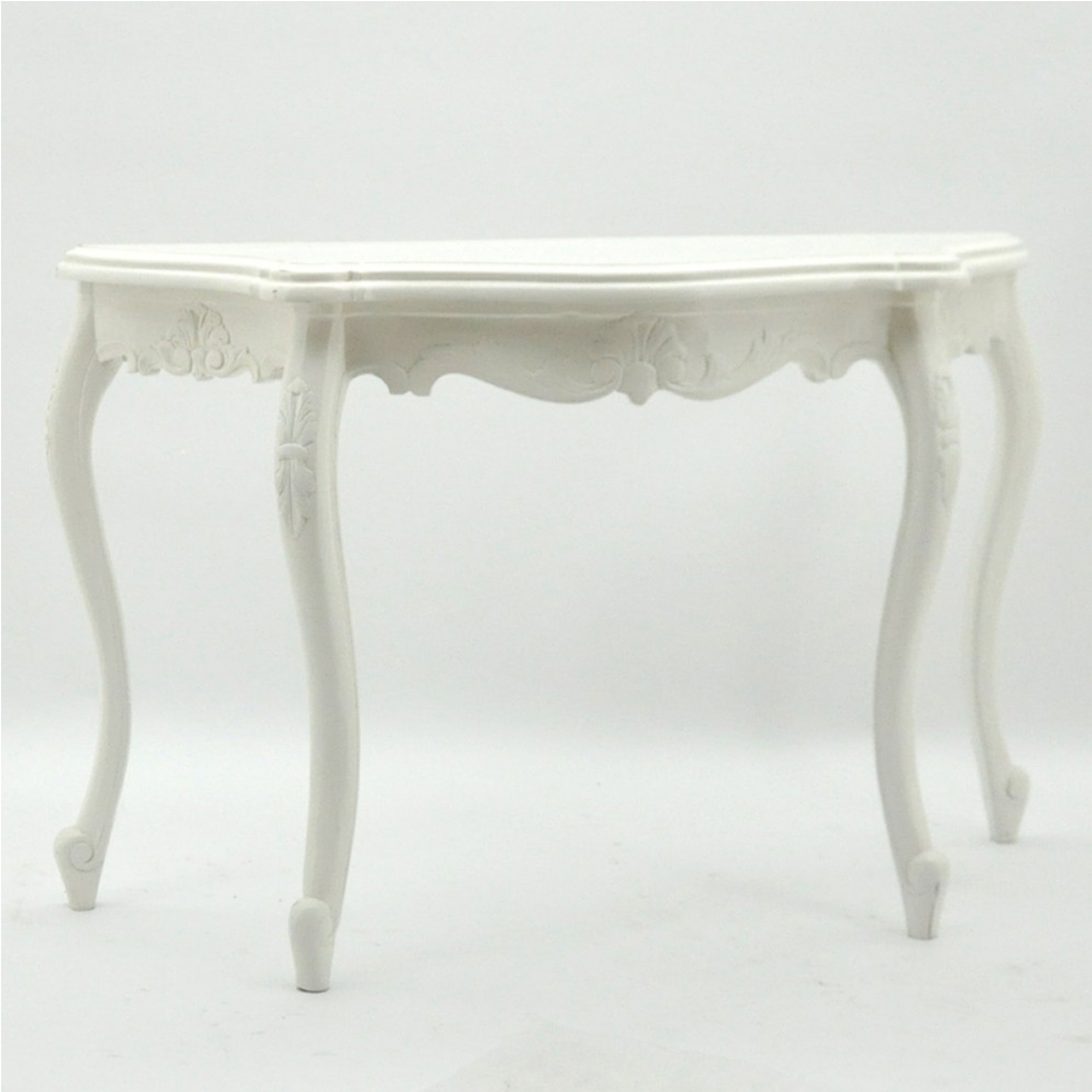 White antique french style mahogany console table french furniture