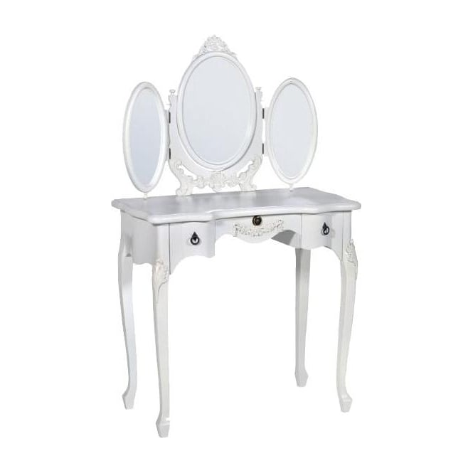 White Antique French Style Dressing Table
