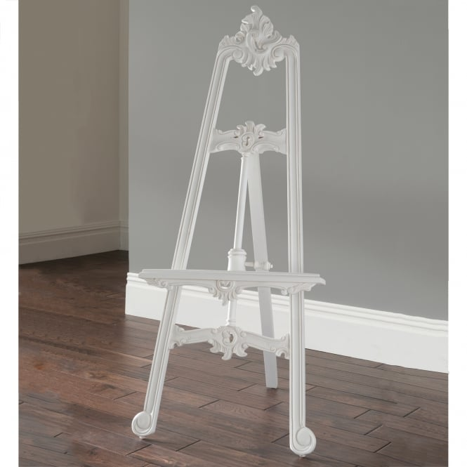 White Antique French Style Easel