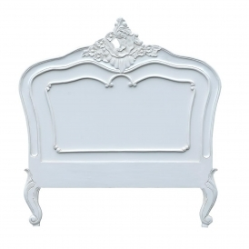 White Antique French Style Headboard