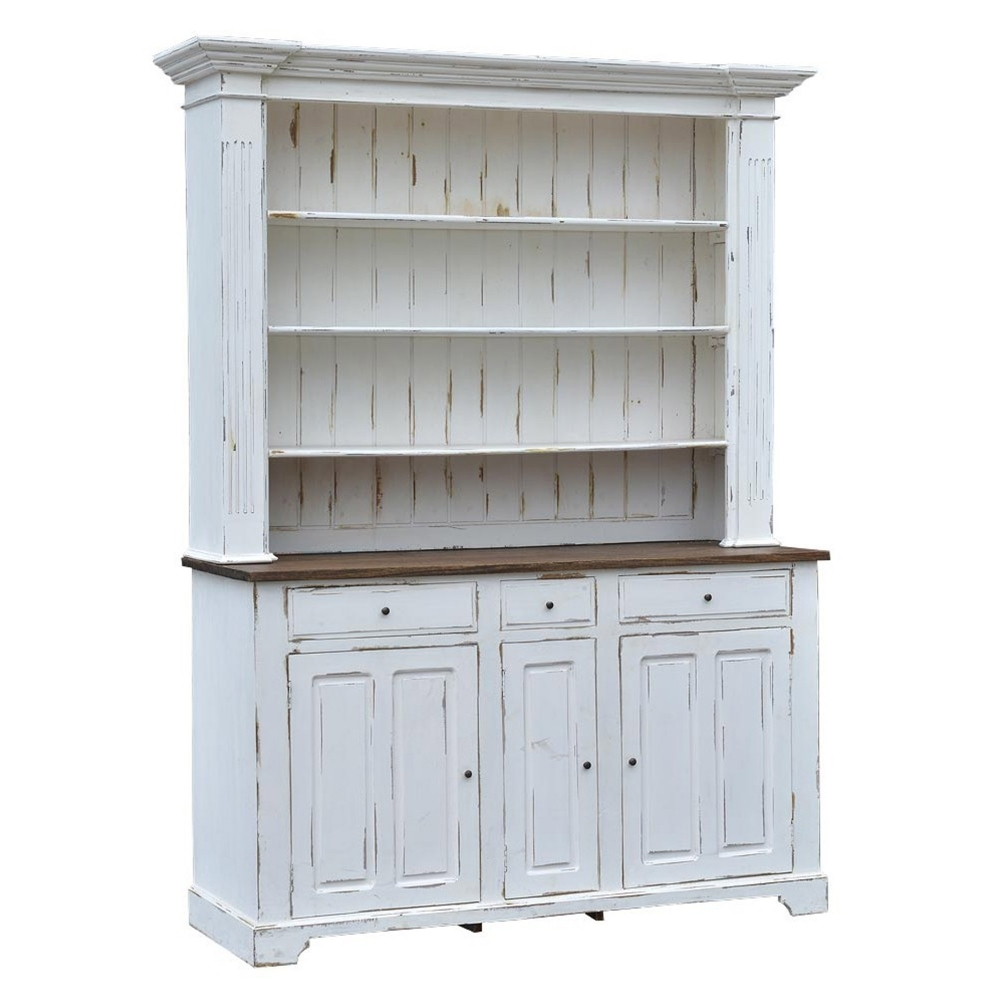 White Antique French Style Kitchen Cabinet