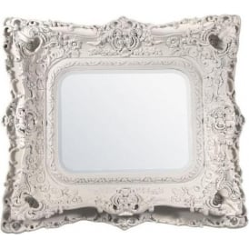 White Antique French Style Mirror