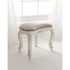 White Antique French Style Stool