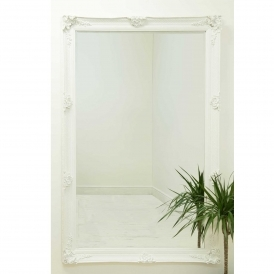 White Antique French Style Wall Mirror