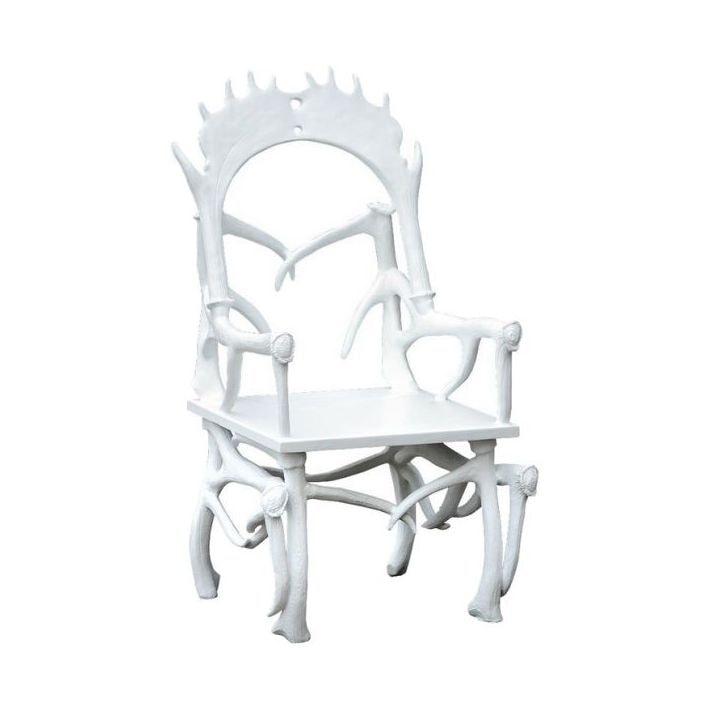 White Antler Chair