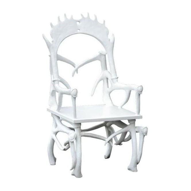 White Antler Chair