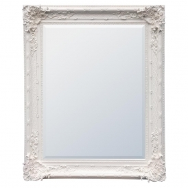 White Clay Antique French Style Mirror