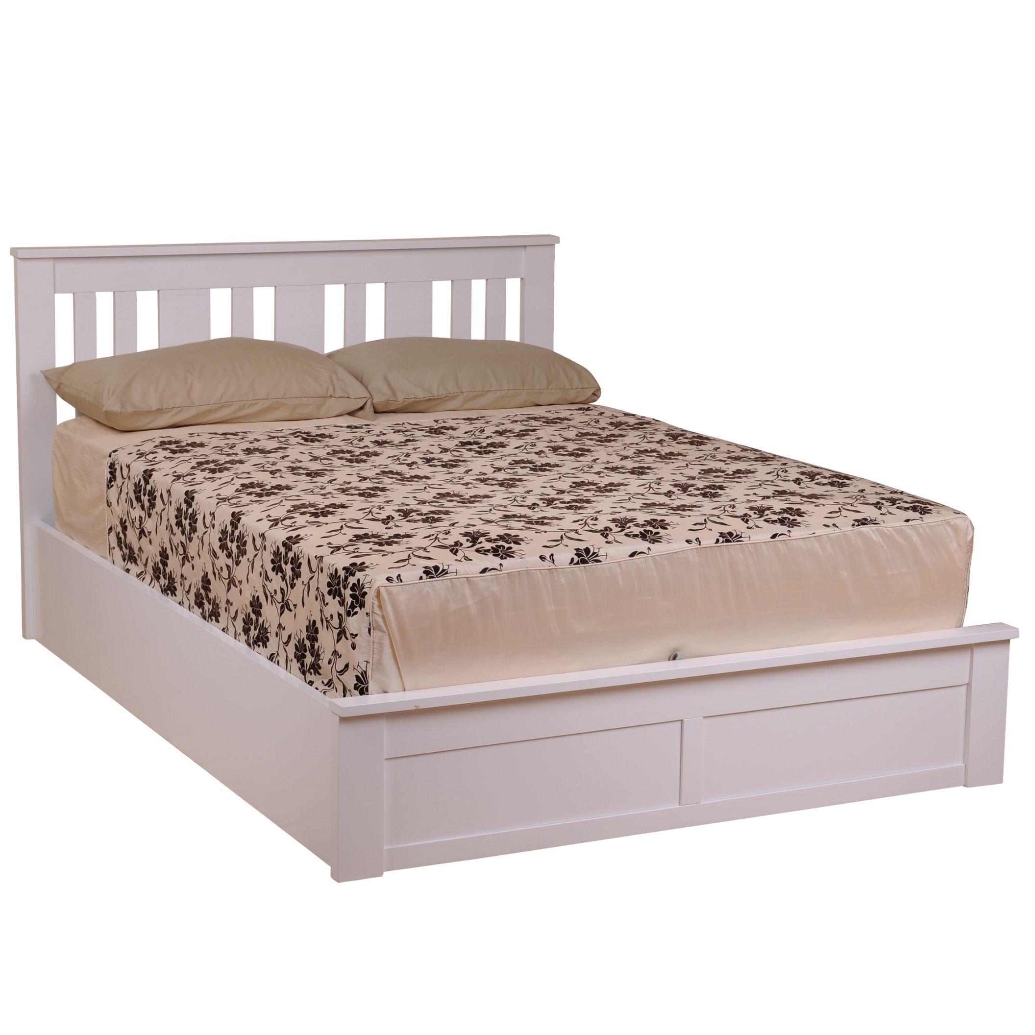 premium selection bb33c c1c6c White Coliseum Wooden Ottoman Bed