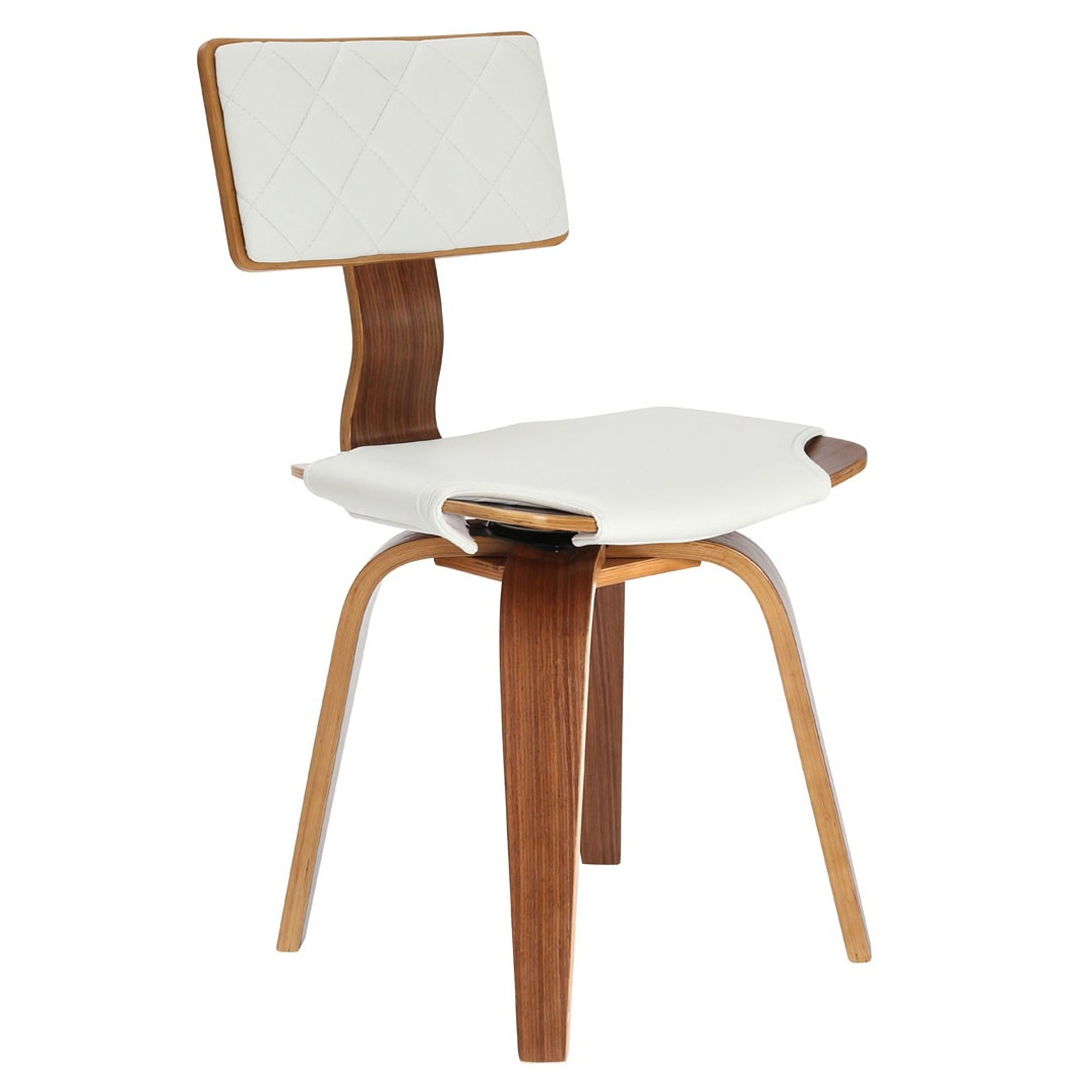 White contemporary dining chair modern dining furniture for White dining chairs modern