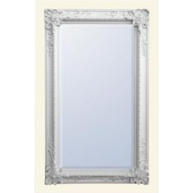 White Decorative Antique French Style Floorstanding Mirror