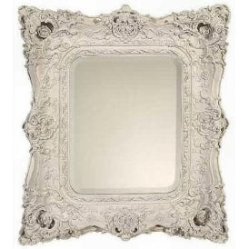 White Decorative Antique French Style Wall Mirror