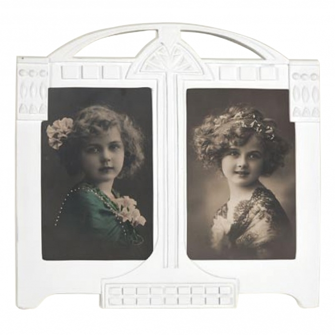White Decorative Double Antique French Style Photo Frame