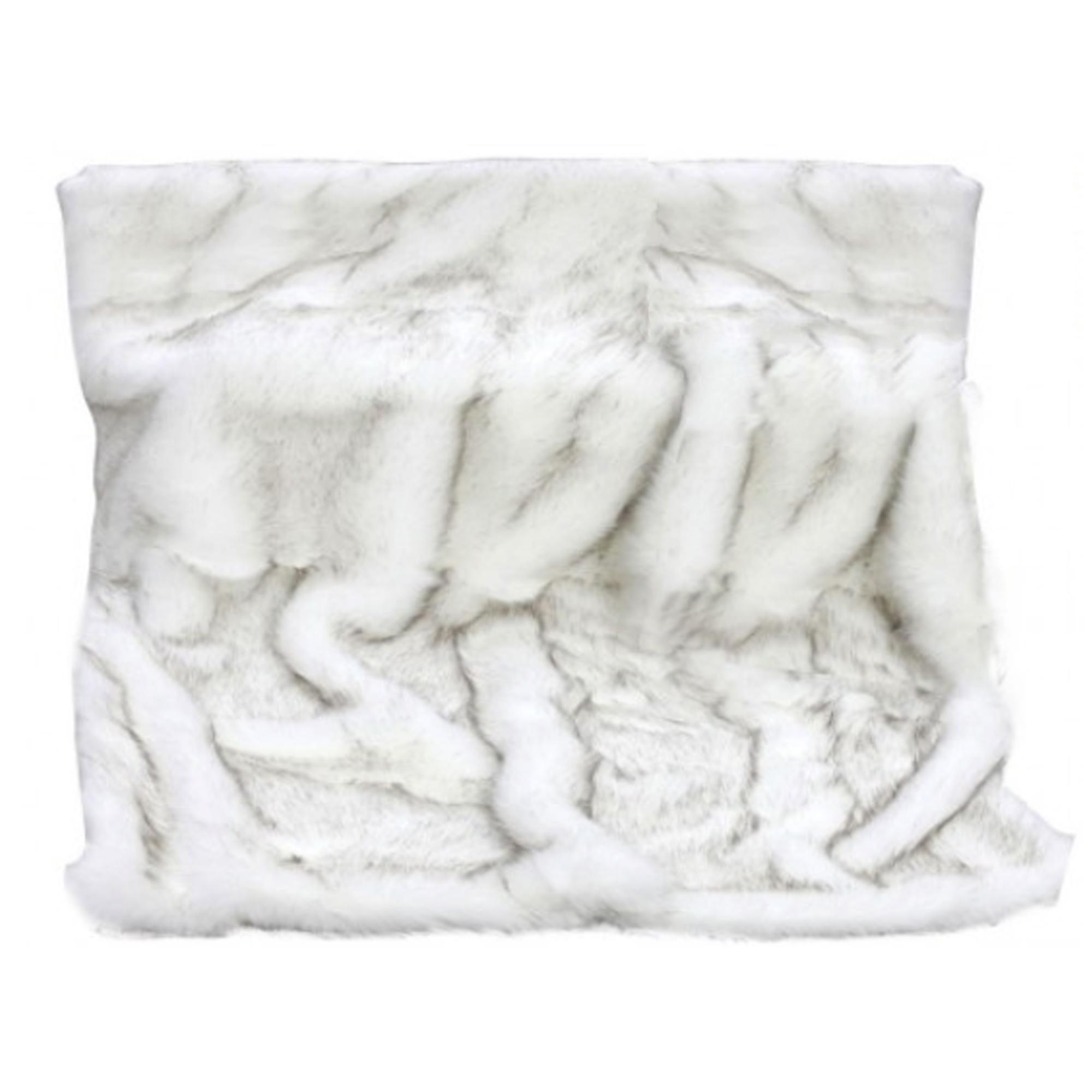 White Faux Fur Throw  4536283c895d