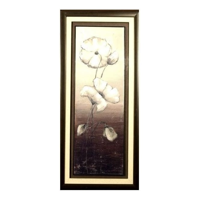 White Flower Framed Picture